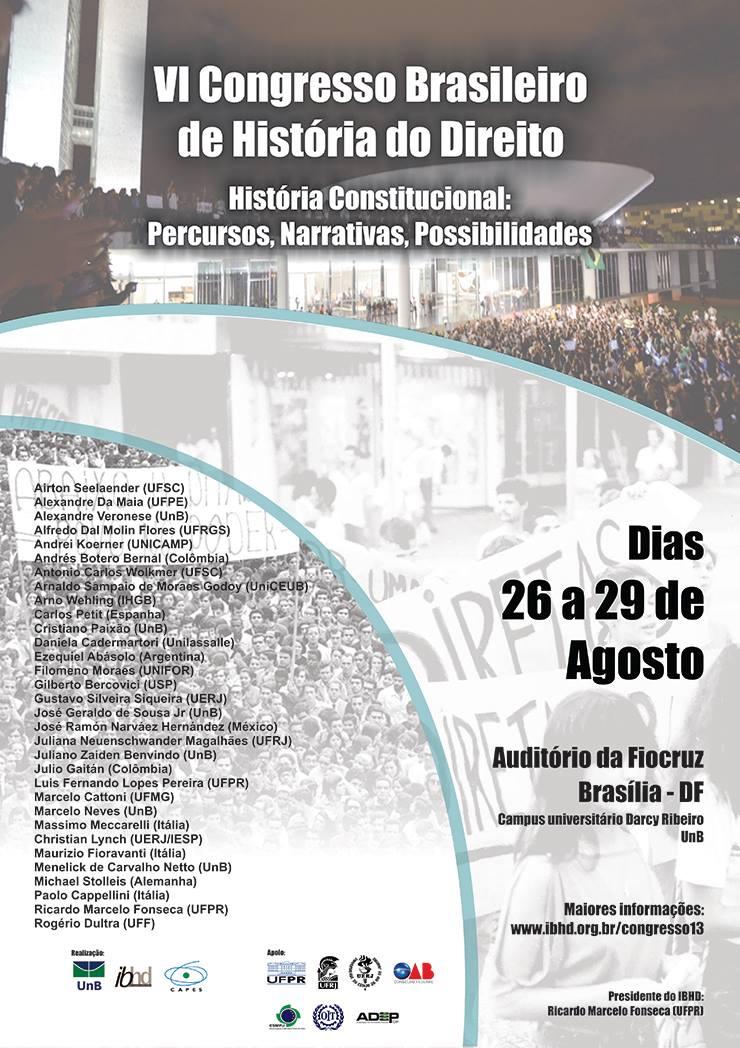 VI Congresso Brasileiro de História do Direito