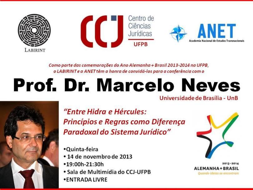 Entre Hidra e Hércules: Conferência do Prof. Marcelo Neves na UFPB