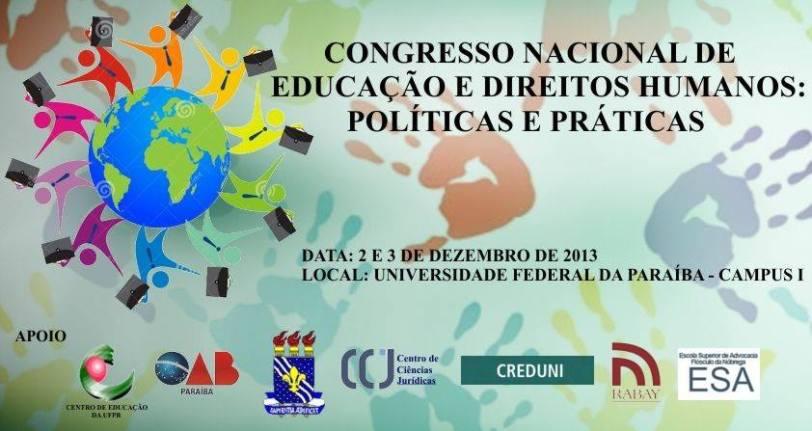João Pessoa sedia Congresso Nacional de Educação e Direitos Humanos